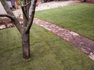 instalación de césped en tepes de paisajistas y jardineros