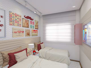 Girls Bedroom by AT arquitetos, Modern