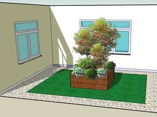 ajardinamiento de terraza en Madrid, barrio de Salamanca de paisajistas y jardineros