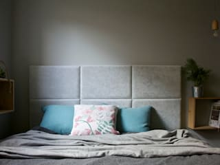 mieszkanie w Plewiskach I: styl , w kategorii Sypialnia zaprojektowany przez Kara design. Pracownia Projektowa Karolina Pruszewicz