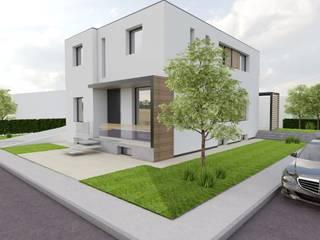 Villa Monofamiliare :  in stile  di Chiara Mangiarotti Studio Architettura
