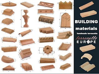 Handcrafted terracotta building materials for renovation and restoration Museus mediterrâneos por Terrecotte Europe Mediterrâneo