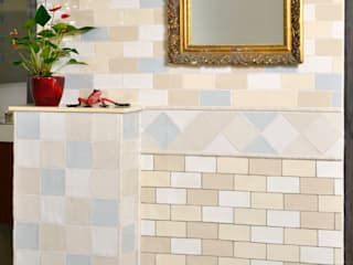 KerBin GbR Fliesen Naturstein Mosaik Kamar Mandi Gaya Mediteran Ubin Beige