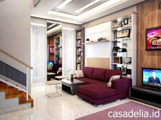 Couloir, entrée, escaliers minimalistes par Casa Delia Minimaliste