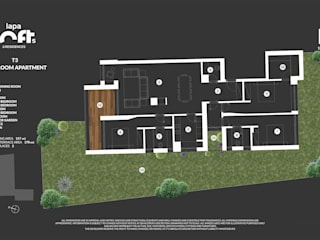 T3 3 Bedroom Apartment por Imovideo Moderno