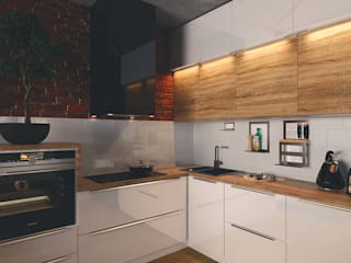 Industrial style kitchen by Diveev_studio#ZI Industrial