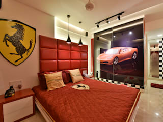 Mr. Doshi's Residence:  Bedroom by Banaji & Associates