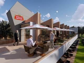 Projeto e construção de Restaurante Lounge Bar:   por DP Projetos