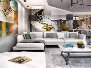 VERO CONCEPT MİMARLIK – Kalafatoğlu Villa İç Mekan:  tarz Oturma Odası