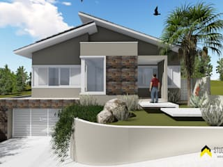 Residência MC Casas modernas por Studio Elevare Arquitetura e Interiores Moderno