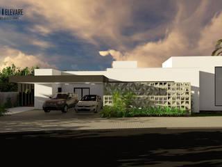 Residência FS: Casas  por Studio Elevare Arquitetura e Interiores