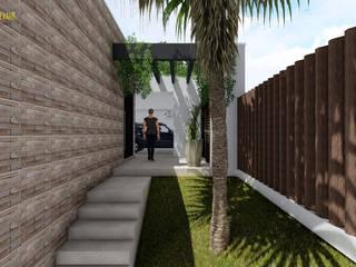 Residência SA: Casas  por Studio Elevare Arquitetura e Interiores
