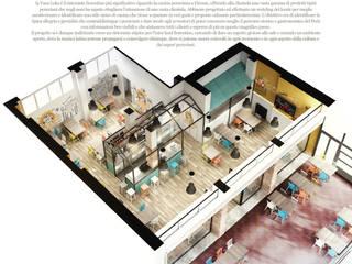 Restaurant  la Vaca Loka: Negozi & Locali commerciali in stile  di Studio Gentile,