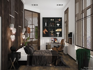 Minimalistische Schlafzimmer von Студия интерьерного дизайна happy.design Minimalistisch