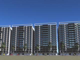 Habitats collectifs de style  par SG Huerta Arquitecto Cancun , Moderne
