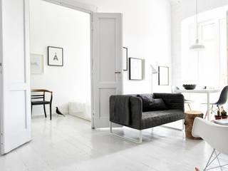 Design for Love Salones de estilo escandinavo Blanco