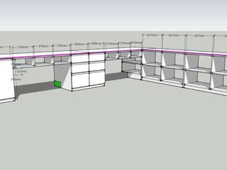 Diseño y armado de sector de trabajo:  de estilo  por Gigante ::: Estudio de Arquitectura
