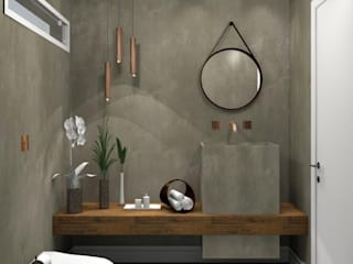 Rustic style bathroom by Renata Monteiro Arquitetura e Interiores Rustic