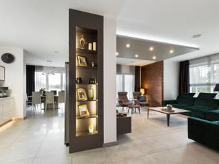 Dom w Margoninie: styl , w kategorii Jadalnia zaprojektowany przez EWEM Aranżacja wnętrz Edyta Wełnicka