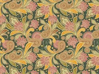 Tissu ameublement, tapisserie à motifs Toile de Jouy des Indes et de L'Orient:  de style  par Rideau-voile, Classique