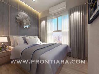Morden luxury plum condo decorating start 150,000฿:  ห้องนอน by Prontiara