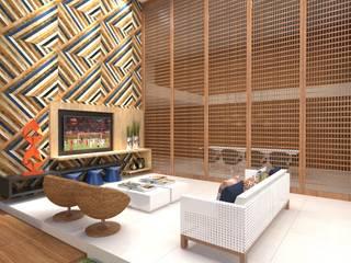Área de lazer Varandas, alpendres e terraços modernos por Miranda & Velloso Arquitetura e Design Moderno