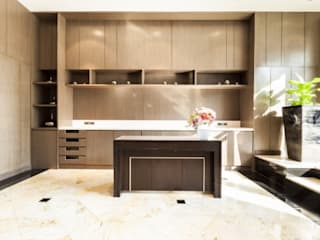 An eclectic design of furniture and home décor accessory pieces:  Built-in kitchens by Rebel Designs