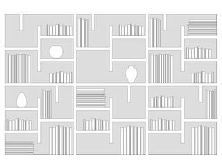 libreria cartongesso:  in stile  di studionove architettura