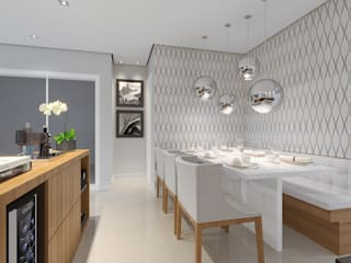 Modern dining room by Aline Dinis Arquitetura de Interiores Modern