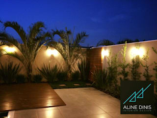 Aline Dinis Arquitetura de Interiores Garden Pool Wood Blue