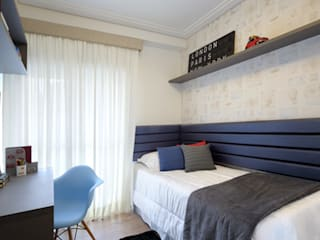 Aline Dinis Arquitetura de Interiores Boys Bedroom MDF Blue