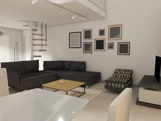 SALON CONTEMPORAIN: Salon de style de style Moderne par Christine Vuillod, Architecte d'intérieur