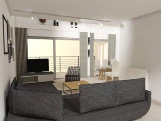 SALON: Salon de style de style Moderne par Christine Vuillod, Architecte d'intérieur