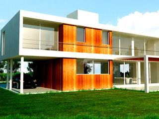 Fachada Contrafrente: Casas de estilo moderno por I.S. ARQUITECTURA