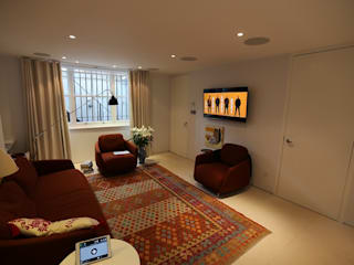 Primrose Hill AV Installation Custom Controls Modern living room