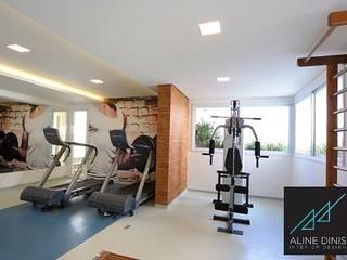 Aline Dinis Arquitetura de Interiores Palestra in stile moderno PVC Blu