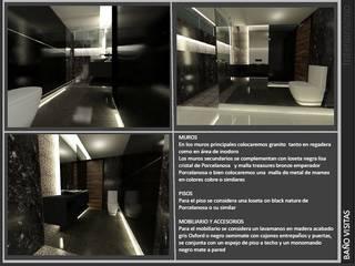 Baño visitas: Salas de estilo  por INTERIORISIMO