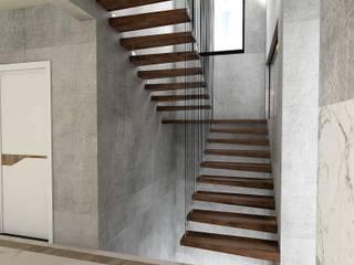 Murat Aksel Architecture – Modern Villa:  tarz Merdivenler