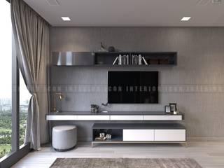 Nội thất căn hộ Vinhomes Golden River - Tòa Aqua Phòng ngủ phong cách hiện đại bởi ICON INTERIOR Hiện đại