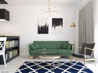Mieszkanie Warszawa Wilanów: styl , w kategorii Salon zaprojektowany przez Wschód Architekci