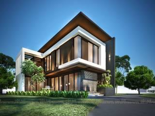 Cầu Giấy House Nhà phong cách tối giản bởi Văn Phòng Kiến Trúc Một Nhà Tối giản