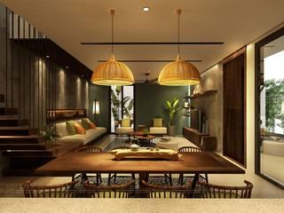 غرفة المعيشة تنفيذ Văn Phòng Kiến Trúc Một Nhà