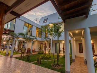 บ้านพักอาศัยคุณเปรมลักษณ์:  สวน by Arkinetic Co.,Ltd by Beam&Kai Architects