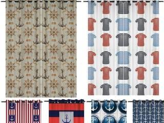 Tissu décoration imprimé motifs style Marin design luxe Paris:  de style  par Rideau-voile, Classique
