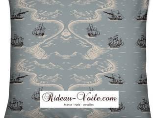 Luxe design tissu au mètre imprimé décoration style Marin navy intérieur extérieur:  de style  par Rideau-voile, Méditerranéen