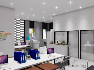 Office Building Bangunan Kantor Gaya Industrial Oleh Multiline Design Industrial