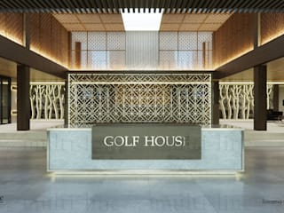 Suvarna Golf Club House: Ruang Komersial oleh Multiline Design, Tropis