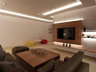 Salas / recibidores de estilo  por A Design Studio, Moderno