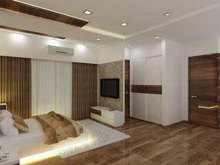 2 BHK at Mumbai Modern Bedroom by A Design Studio Modern