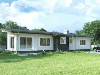 Проект одноэтажного дома из клееного бруса «Пущино» : Деревянные дома в . Автор – ООО 'Студия Клееного Бруса'